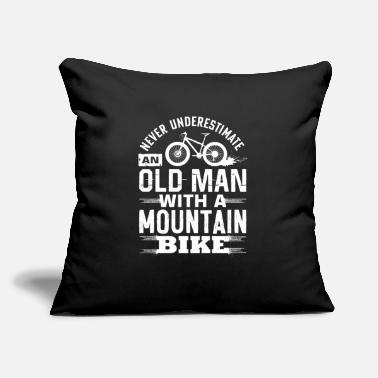 "Never Underestimate An Old Man With A Mountain - Throw Pillow Cover 18"" x 18"""