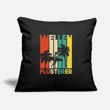 "Surfing Waves Whisperer Gift Idea - Throw Pillow Cover 18"" x 18"""