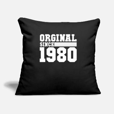 "Round Birthday 40. birthday 1980 round birthday - Throw Pillow Cover 18"" x 18"""