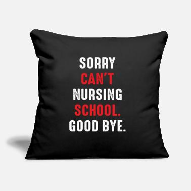 "Frequency Funny Nursing School Sorry I Cant Nurse Gift - Throw Pillow Cover 18"" x 18"""