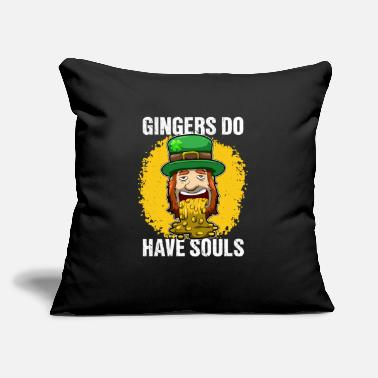 "Alcoholic Patricks Day 98Gingers do have souls - Throw Pillow Cover 18"" x 18"""