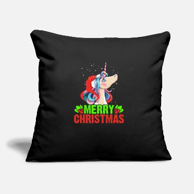 "Snowman Christmas Unicorn Holidays Gift Gift Idea - Throw Pillow Cover 18"" x 18"""