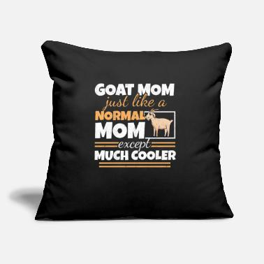 "First Goat Mom Goat Lady Mother's Day Goat Lover Women - Throw Pillow Cover 18"" x 18"""