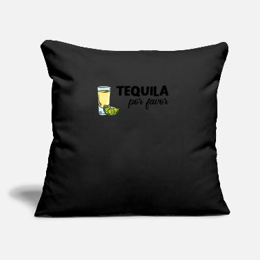 "Sayings Cinco De Mayo Tequila Lemon Alcohol Orange - Throw Pillow Cover 18"" x 18"""