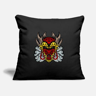 "Chinese Asian Dragon Head - Throw Pillow Cover 18"" x 18"""