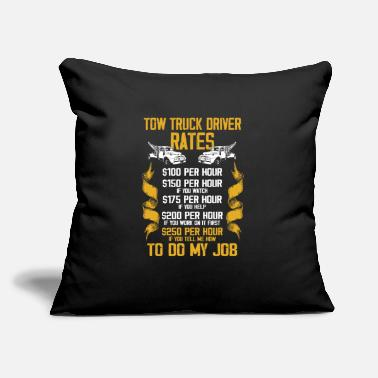 "Job Tow Truck Driver Rate Trucker Gift graphic - Throw Pillow Cover 18"" x 18"""