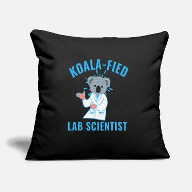 "Test Tube KOALAFIED LAB SCIENTIST - KOALA LAB TECH - Throw Pillow Cover 18"" x 18"""