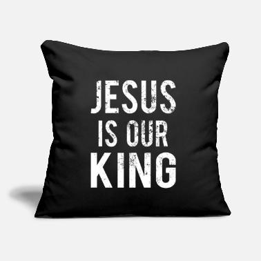 "Miss Christianity : Jesus is our King - Throw Pillow Cover 18"" x 18"""
