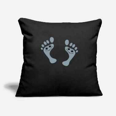 "Foot Smile foot - Throw Pillow Cover 18"" x 18"""