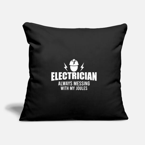 "Electronics Pillow Cases - Electricians - electricity & high voltage - Throw Pillow Cover 18"" x 18"" black"