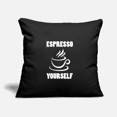 "Espresso Espresso - Throw Pillow Cover 18"" x 18"""