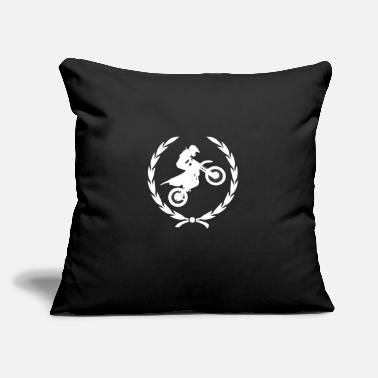 "Woman Love Motorcycle Cross Gift - Throw Pillow Cover 18"" x 18"""