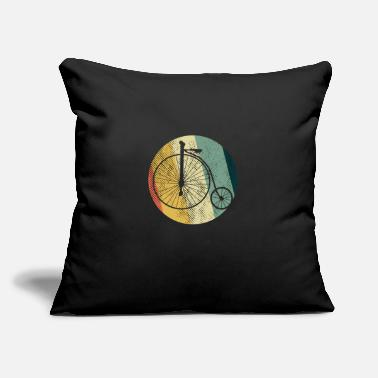 "Old High Wheel T-Shirt & Gift Idea Bicycle Penny-Farth - Throw Pillow Cover 18"" x 18"""
