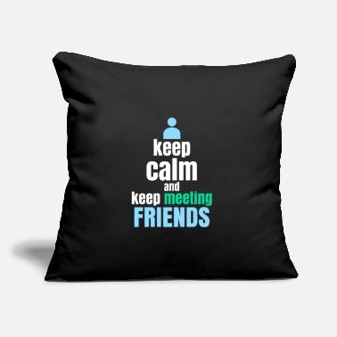 "Meeting Meeting Friends - Throw Pillow Cover 18"" x 18"""