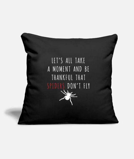 "Cobweb Pillow Cases - Spider - Spider Web - House Spider - Throw Pillow Cover 18"" x 18"" black"
