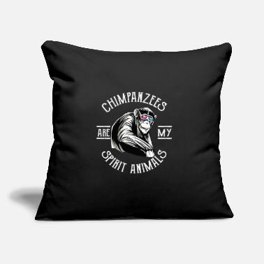 "Chimpanzee Chimpanzees - Throw Pillow Cover 18"" x 18"""