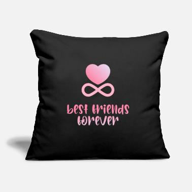 "Bff Best Friends Friendship Strong Together - Throw Pillow Cover 18"" x 18"""