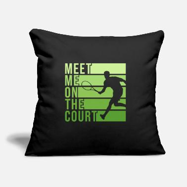 "Court Tennis Court Design for a Tennis Player - Throw Pillow Cover 18"" x 18"""