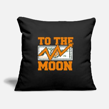 "Gang Dogecoin To The Moon Digital hodl FUN gift idea - Throw Pillow Cover 18"" x 18"""