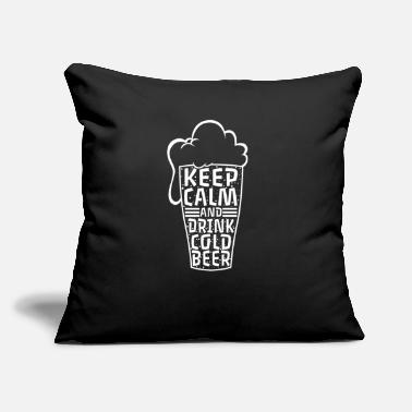 "Drink Keep Calm and Drink Cold Beer - Throw Pillow Cover 18"" x 18"""