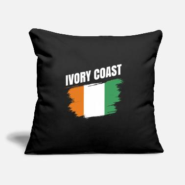 "Travel Ivory Coast Africa Gift Idea - Throw Pillow Cover 18"" x 18"""