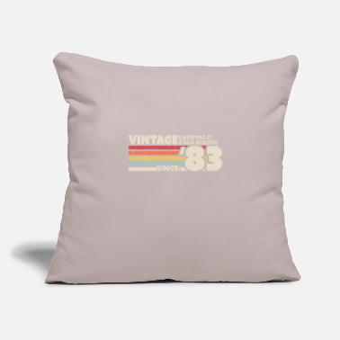 "Old School 1983 Vintage, Keeping It Old School Since '83 - Throw Pillow Cover 18"" x 18"""