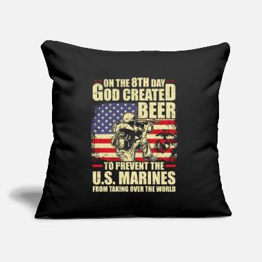 "Marine MARINES - Throw Pillow Cover 18"" x 18"""