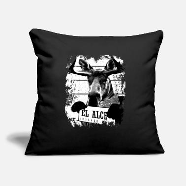 "Alc Animal Print Gift - El Alce - Throw Pillow Cover 18"" x 18"""