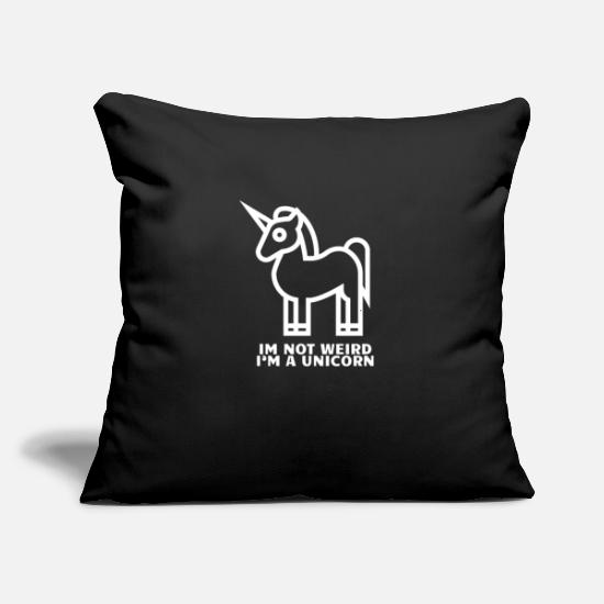"Birthday Pillow Cases - I´m A Unicorn - Limited Edition - Throw Pillow Cover 18"" x 18"" black"