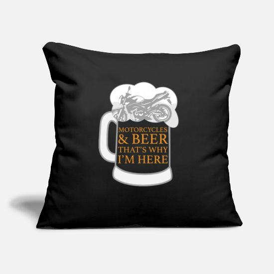 "Vehicle Pillow Cases - Motorcycle Automobile Funny Gift - Throw Pillow Cover 18"" x 18"" black"