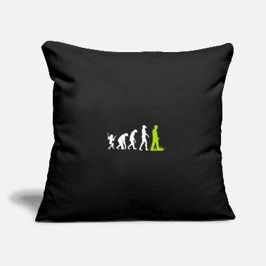 "Motto Vegan animal welfare environment gift evolution - Throw Pillow Cover 18"" x 18"""