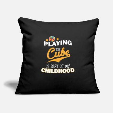 "Zauberwürfel Playing The Magic Cube - Limited Edition - Throw Pillow Cover 18"" x 18"""