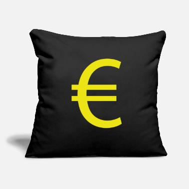"Euro €, euro, euro sign, currency - Throw Pillow Cover 18"" x 18"""