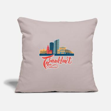 "Frankfurt frankfurt skyline - Throw Pillow Cover 18"" x 18"""