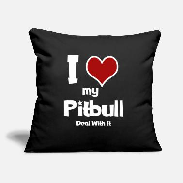 "Pittie I Love My Pitbull - Cute Pittie Dog Lover - Throw Pillow Cover 18"" x 18"""