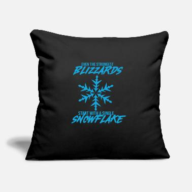 "Blizzard Blizzards - Throw Pillow Cover 18"" x 18"""