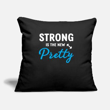 "Pretty Strong is the new pretty - Throw Pillow Cover 18"" x 18"""