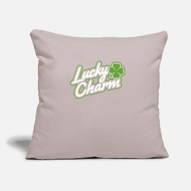 "Lucky Charm Lucky charm - Throw Pillow Cover 18"" x 18"""