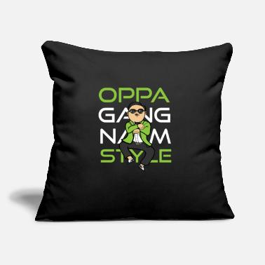 "Gangnam Oppa Gangnam Style - Throw Pillow Cover 18"" x 18"""