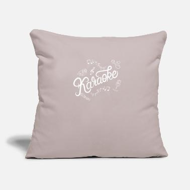 "Performance Karaoke Love Sing Party Music for Karaoke Legend - Throw Pillow Cover 18"" x 18"""