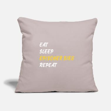 "Geschenk Eat sleep epischer Sieg repeat Gamer zocken slogan - Throw Pillow Cover 18"" x 18"""