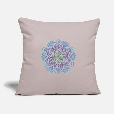 "Painting Mandala art drawing for gift - Throw Pillow Cover 18"" x 18"""