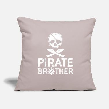 "Brother Pirate Brother - Brother - Throw Pillow Cover 18"" x 18"""