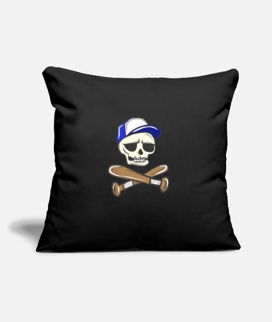 "Usa Pillow Cases - Baseball Brennball Softball Kickball Ballsport USA - Throw Pillow Cover 18"" x 18"" black"