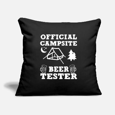 "King Official Campsite and Beer - Throw Pillow Cover 18"" x 18"""