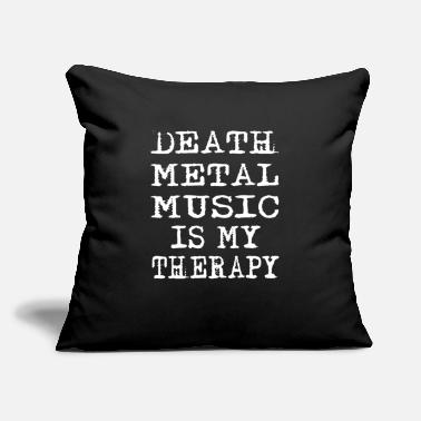 "Rock 'n' Roll Death Metal Music Is My Therapy - Throw Pillow Cover 18"" x 18"""