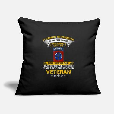 "Forever The Title 82Nd Airborne Division Veteran - Throw Pillow Cover 18"" x 18"""