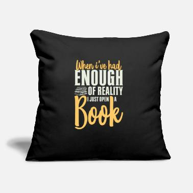 "Literature Funny Bookworm Quote For Reader - Throw Pillow Cover 18"" x 18"""