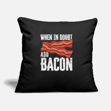"Strip For Bacon Lovers My Favorite Animal Is Bacon - Throw Pillow Cover 18"" x 18"""