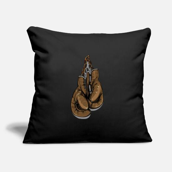 "Boxing Gloves Pillow Cases - Boxing Gloves - Throw Pillow Cover 18"" x 18"" black"